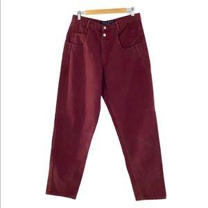 Guess Vintage 2 Button Pascal Burgundy Loose Jean